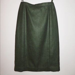 Green Basler Straight Skirt -xs